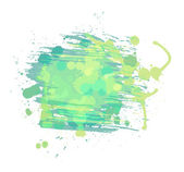 Artistic watercolor vector background. Light green and blue colo — Stock Vector