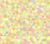 Pastel colored abstract vector polygon design — Stock Vector