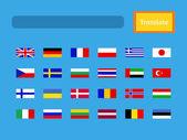 Vector interface of mobile translator application. — Stock Vector
