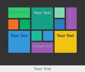 Flat design template — Stock Vector