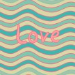 Wavy Love seamless pattern — Stock Vector