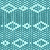 Rhomb beadwork ornament — Stock Vector