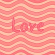 Stripy Valentine card — Vector de stock