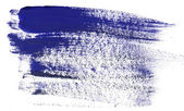 Blue paint strokes — 图库照片