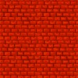 Red brickwork vector seamless pattern — Stock Vector