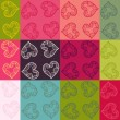 Vector Valentine seamless pattern set — Stock Vector