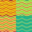 Abstract wavy vector seamless pattern set — Stock Vector