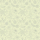 Doodle summer vector seamless pattern. Retro subdued colors — Stock Vector