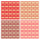 Brickwork vector seamless pattern collection — Stock Vector