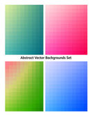 Abstract vector backgrounds collection. Flowing colors. — Stock Vector