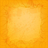 Abstract vector background with hand drawn frame and artistic gr — Stock Vector