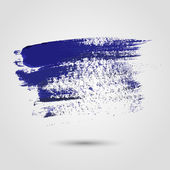 Blue paint strokes — Stock Vector