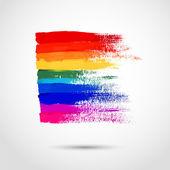 Rainbow strokes — Stock Vector