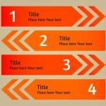 Vector infographic arrows background — Stock Vector #34494037