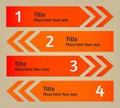 Vector infographic arrows background — Stock Vector