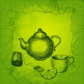 Vector tea background — Stock Vector