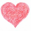 Hand drawn pastel heart. Raster background — Stock Photo