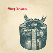Vintage mürekkep stili Noel kartı. Senin des için vektör arka plan — Stok Vektör
