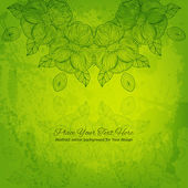 Green abstract vector background for Your design. Beautiful lace — 图库矢量图片