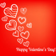 Colorful vector Valentine's Day card — Image vectorielle