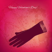 Artistic vector valentine background with ink style hand drawn d — Stock Vector