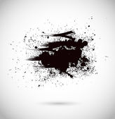 Abstract vector background. Grunge paint banner. Black and white — Stock Vector