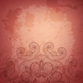 Abstract vector background. Beautiful lace arabesque — Stock Vector