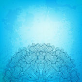 Abstract vector background with beautiful lace stylized arabesqu — Stok Vektör