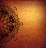 Abstract polygon vector background with beautiful lace stylized — Stock vektor
