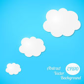 Abstract vector background. Stylized clouds — Stock Vector