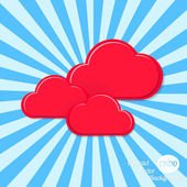 Abstract vector background. Stylized clouds — 图库矢量图片