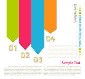 Vektor platt infographics design bakgrund — Stockvektor