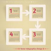 Vector flat infographics design background — Vettoriale Stock
