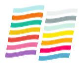Vector estilo plano conjunto de cintas — Vector de stock