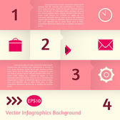 Abstract vector infographics background — Cтоковый вектор