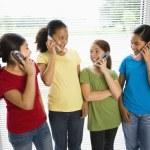 Girls on phones. — Stock Photo #9254826