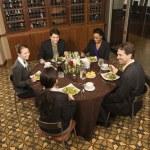 Businesspeople eating. — Stock Photo #9255133