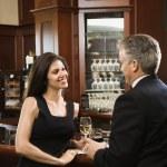 Man and woman at bar. — Stock Photo #9366274