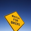 'Watch for Bikers' Road Warning Sign — Stock Photo #9424714