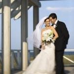 Bride and groom portrait. — Stock Photo #9499146