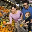 Family grocery shopping. — Stock Photo #9499202