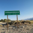 Independence town sign. — Stock Photo #9506059