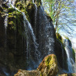 Waterfall in spring — Stock Photo