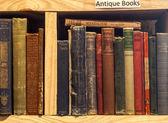 Second-hand bookstore shelf — Stock Photo