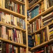 Stock Photo: Secondhand bookstore shelves corner