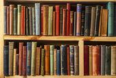 Second-hand bookstore shelfs — Stock Photo