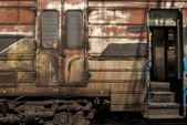 Parte antigua de grunge carro abandonado — Foto de Stock