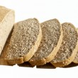 Organic yeast sliced bread — Stock Photo