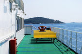 Ferry deck — Stock Photo