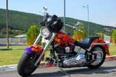 Colorful motorcycle — Stockfoto